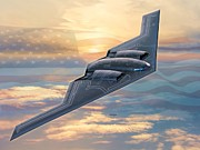 Whiteman Art - B-2 Spirit by Stu Shepherd