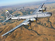 B Digital Art - B-29 On Silver Wings by Stu Shepherd