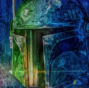 Starwars Digital Art Prints - B Fett Print by Christina Perry