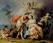 Famous Artists - Bacchus and Ariadne by Jacopo Amigoni