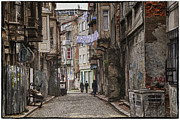 Unsafe Prints - Back Street Print by Joan Carroll