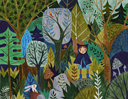 Adventure Drawings Posters - Back To The Wild Poster by Kate Cosgrove