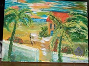 Colorfull Paintings - Bahama Scene by Jerome  Michener