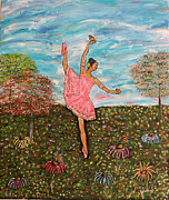 Ballet Dancers Paintings - Baile de la Vida by Stephen Harrelson