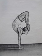 Gymnastics Paintings - Balance by Neal Luea