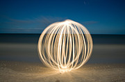 Moonlight Photos - Ball of Light Marco Island Beach by Rich Franco