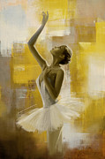 Oil On Canvas Painting Originals - Ballerina  by Corporate Art Task Force