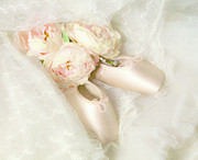 Dance Ballet Roses  Photo Metal Prints - Ballet Shoes Metal Print by Theresa Tahara