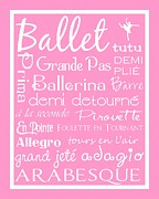 Ballet Dancers Digital Art Framed Prints - Ballet Subway Art Framed Print by Jaime Friedman