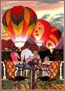 At Poster Digital Art Metal Prints - Balloon Glow at Twilight Metal Print by Ronald Chambers