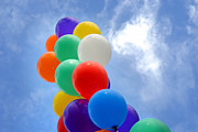 Birthday Photos - Balloons Against a Cloudy Sky by Amy Cicconi