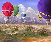 Balloon Flower Framed Prints - Balloons Framed Print by Jamie Frier