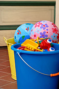 Play Prints - Balls and Toys in Buckets Print by Amy Cicconi