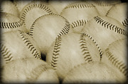 Baseball Seams Photo Metal Prints - Balls Metal Print by Malania Hammer