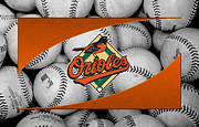 Baseball Bat Metal Prints - Baltimore Orioles Metal Print by Joe Hamilton