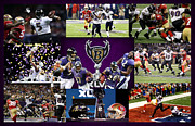 Baltimore Framed Prints - Baltimore Ravens Framed Print by Joe Hamilton