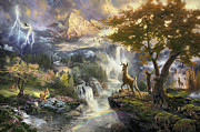 Disney Framed Prints - Bambi Framed Print by Thomas Kinkade