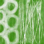 Green Mixed Media - Bamboo by Linda Woods