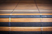 Matting Photo Framed Prints - Bamboo Mat Texture Framed Print by Tim Hester