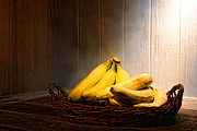 Food And Beverage Framed Prints - Bananas Framed Print by Olivier Le Queinec