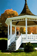 Country Music Town Prints - Bandstand Print by Lee Fortier