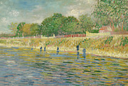 Pointillist Prints - Bank of the Seine Print by Vincent van Gogh