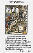 Hair-washing Photo Posters - Barber-surgeon, 1568 Poster by Granger
