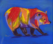 Fanciful Pastels Metal Prints - Barely a Bear Metal Print by Diana Tripp