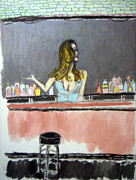 Bartender Paintings - Bartender by J Anthony