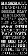 Art Scroll Framed Prints - Baseball Subway Art Framed Print by Jaime Friedman