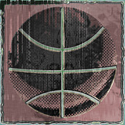 Basketball Digital Art Metal Prints - Basketball Abstract Metal Print by David G Paul
