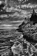 Maine Lighthouses Posters - Bass Harbor Poster by Chad Tracy