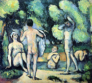 John Peter Framed Prints - Bathers  by Cezanne Framed Print by John Peter