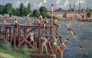 Famous Artists - Bathing by Maximilien Luce