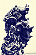 Caped Crusader Prints - Batman - The Gargoyle Perch  Print by Lee Dos Santos