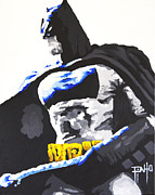 Erik Pinto Metal Prints - Batman Metal Print by Erik Pinto