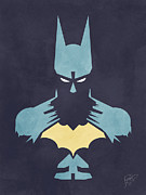 Vintage Digital Art Digital Art Metal Prints - Batman Metal Print by Jason Longstreet