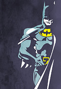 Human Beings Digital Art Prints - Batman  Print by Mark Ashkenazi