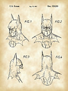 Crime Fighter Posters - Batman Patent Poster by Stephen Younts
