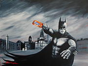 J.p. Painting Prints - Batman Saturday Night Print by J P Mclaughlin