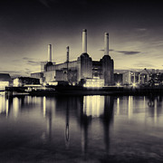 South Bank Framed Prints - Battersea Power Station London Framed Print by Ian Hufton