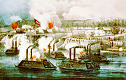 Ark Prints - Battle of Fort Hindman Print by Currier and Ives