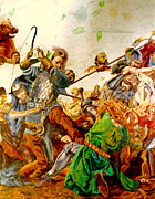 Henryk Paintings - Battle of Grunwald by Henryk Gorecki