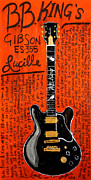 Guitars Paintings - BB King Lucille Gibson by Karl Haglund