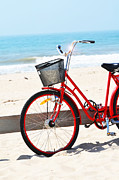 Hamptons Posters - Beach Bicycle Poster by Adspice Studios