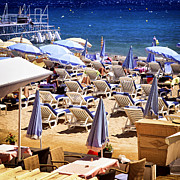 Deluxe Photos - Beach in Cannes by Elena Elisseeva