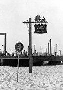 York Beach Prints - Beach Signs In New York Print by Underwood Archives