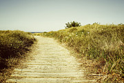 Beach Photograph Metal Prints - Beach trail Metal Print by Les Cunliffe