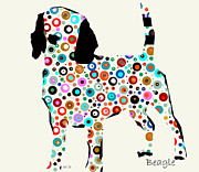Dogs Mixed Media - Beagle by Brian Buckley