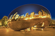 Chicago Reflections Posters - Bean Reflections Poster by Donald Schwartz